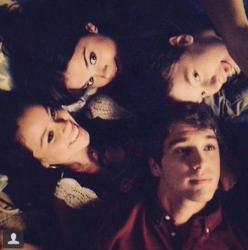 Maia Mitchell, Cierra Ramirez, David Lambert and Hayden Byerly #TheFosters