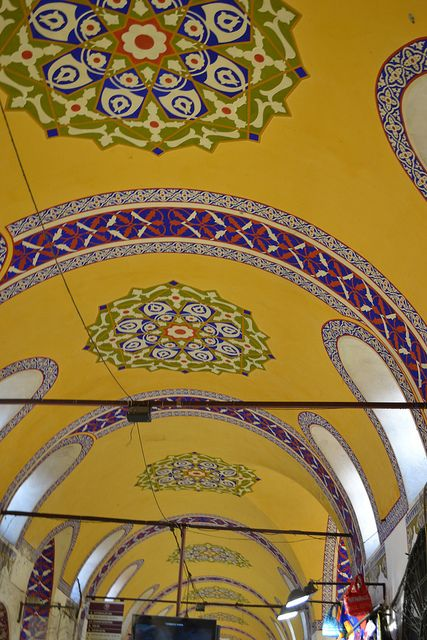Ceiling of the Grand Bazaar in Istanbul, Turkey