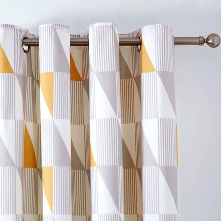 Yellow Skandi Thermal Eyelet Curtains, Dunelm  Product Details £44.99
