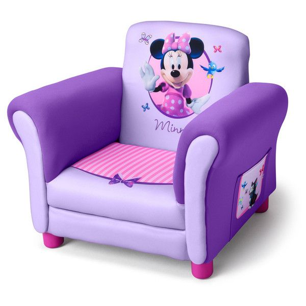 Delta Minnie Mouse Purple Upholstered Children's Chair (Purple... ($77) ❤ liked on Polyvore featuring home, children's room and children's furniture