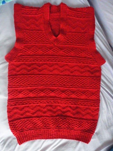 Teia de Carinhos: Colete vermelho de ticô