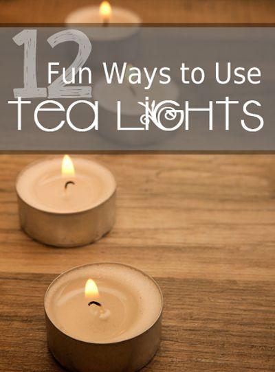 12 Fun Ways To Use Tea Lights Creative Creative Things