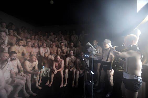 Concert in Sauna, Suomenlinna, Helsinki, Finland