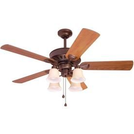 Harbor Breeze Plymouth Bronze Downrod Or Flush Mount Indoor Ceiling Fan With Light Kit At Lowes For A Familiar Design And Convenient Features