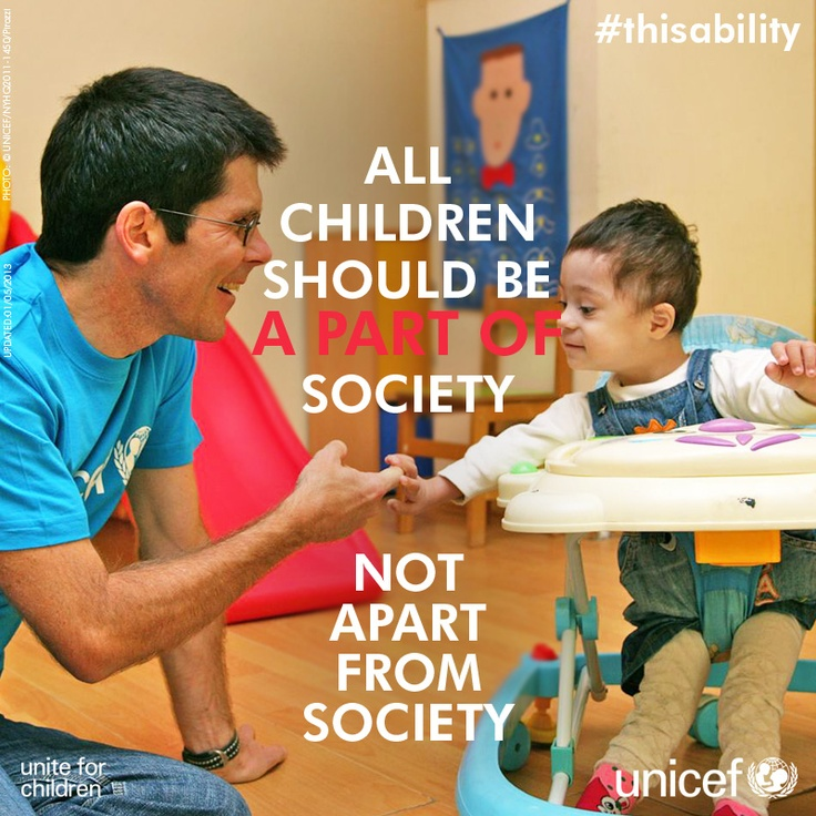 All children should be a part of society! Not apart from society!