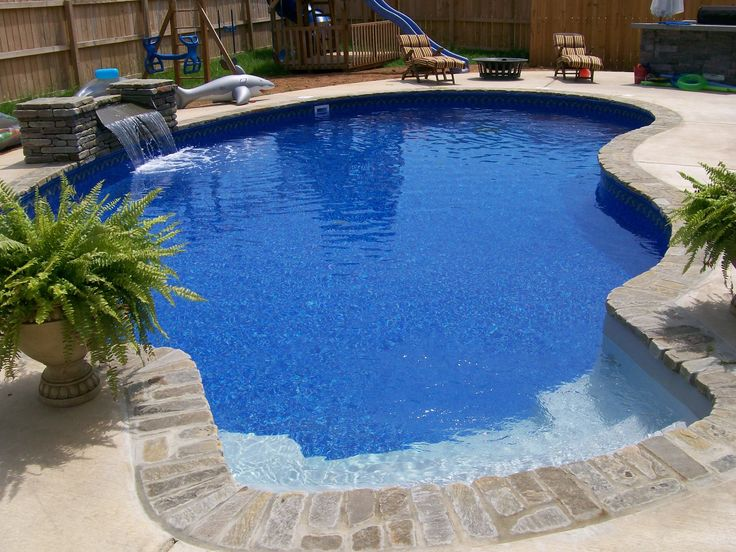 Pool Built By Anderson Pools And Spas Murfreesboro Tn 16 X 32 Kidney Vinyl Liner Swimming