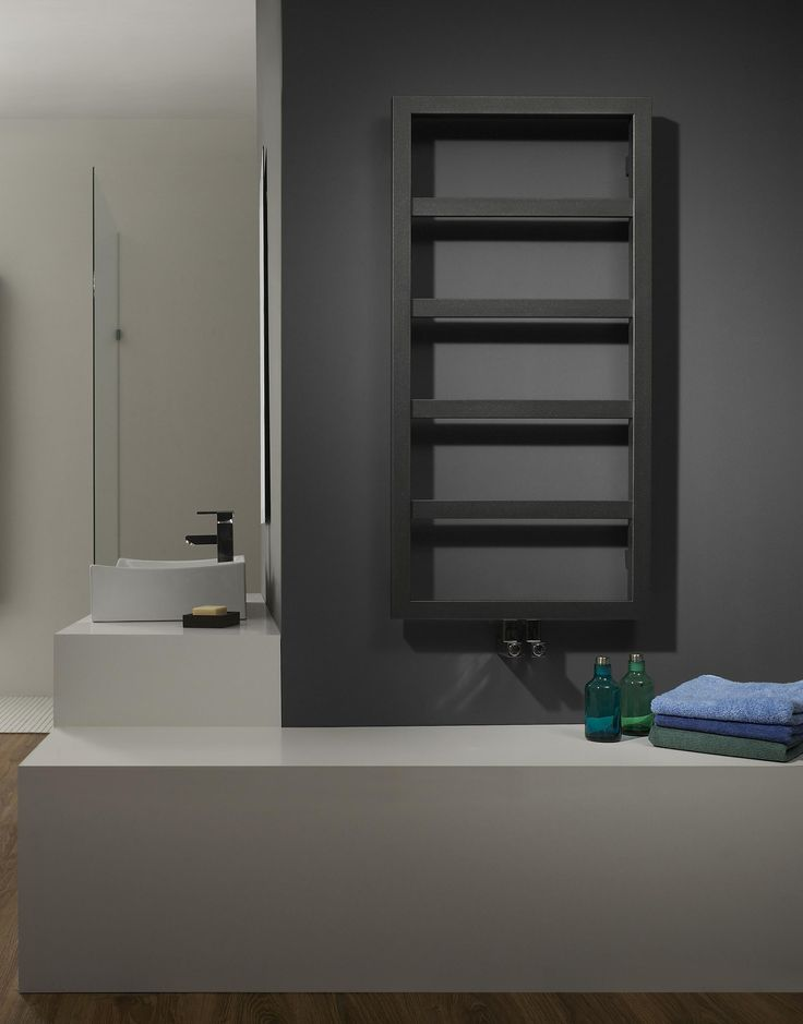 This attractive contemporary towel radiator is an