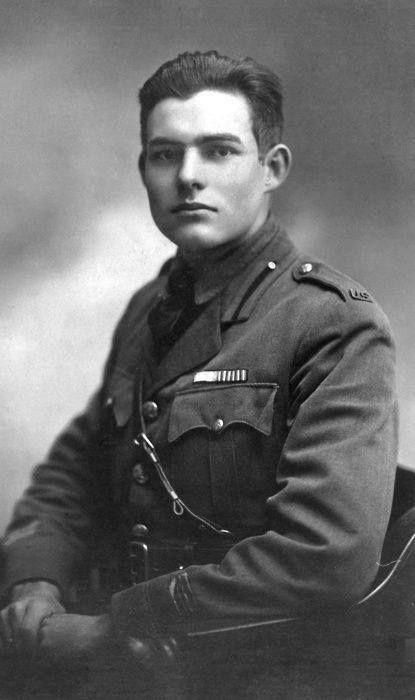 Ernest Hemingway during World War I