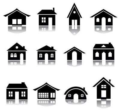 House icon set vector illustration eps vector