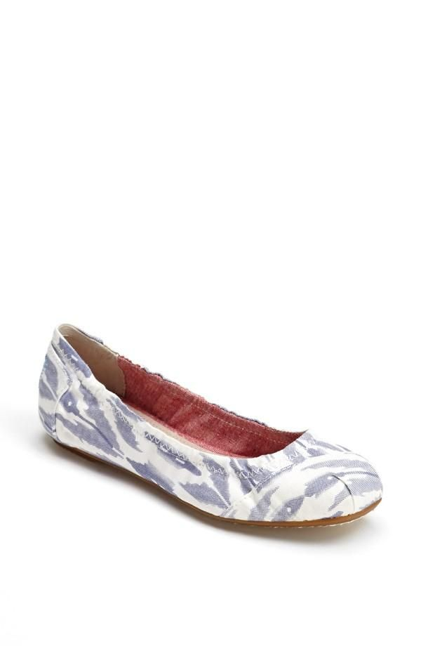 Light Blue and White Flats