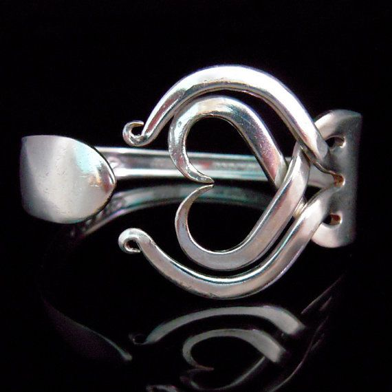 Recycled Silverware Jewelry Silver Fork Bracelet by MarchelloArt, $29.99
