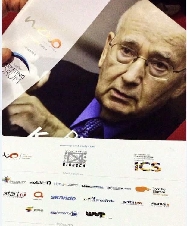 Le 10 lezioni di Philip Kotler al Marketing Forum di Milano via @webinfermento