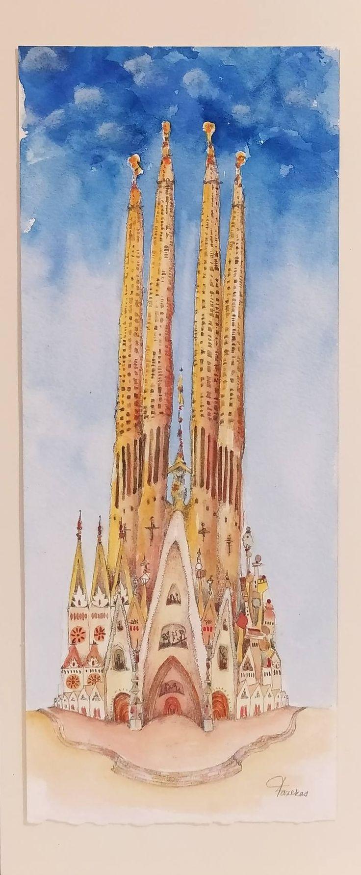 Sagrada Familia II. Drawing in 21   Drawings, Sagrada familia ...