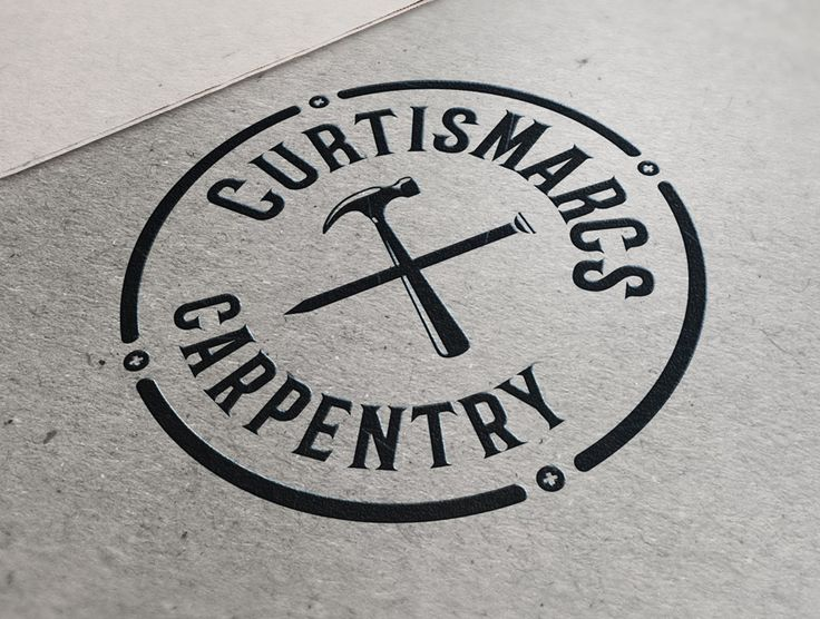 CurtisMarcs Carpentry Branding - CT Sign & Design #contractors #builder #construction #wood #handyman #carpenter #logo