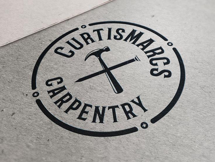CurtisMarcs Carpentry Branding - CT Sign & Design #contractors #builder #construction #wood #handyman #carpenter #logo