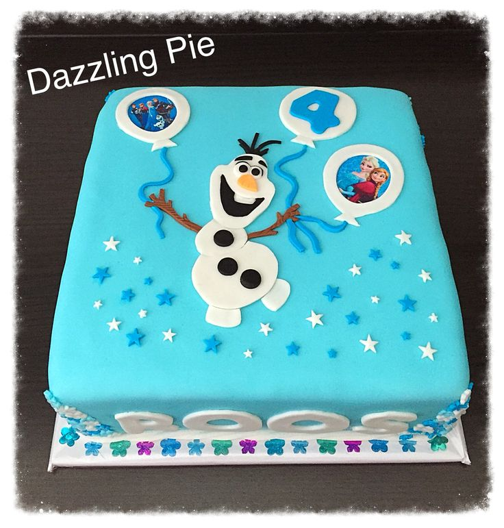 Frozen cake made by Dazzling Pie