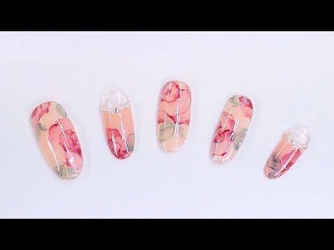 [시크릿스타걸] 드라이 로즈플라워 네일아트 / Dry rose flower nail art