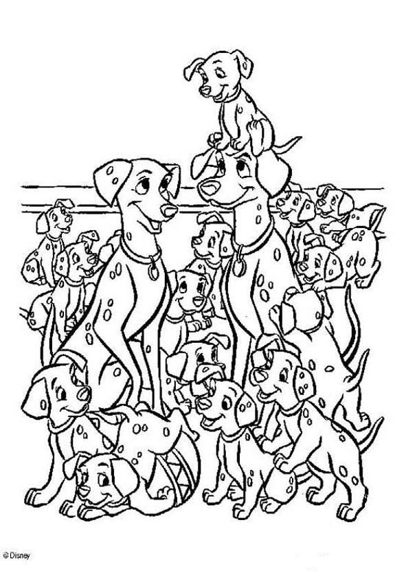 101 Dalmatas Para Colorear Cartoon Coloring Pages Disney Coloring Pages Disney Colors
