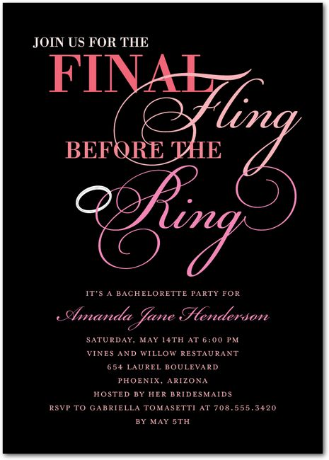 45 best images about Bachelorette Party Planning – Pole Party Invitations