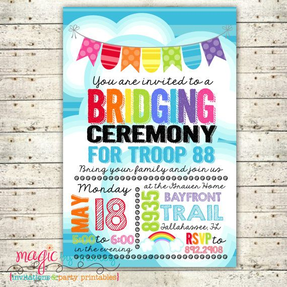 Digital Printable Girl Scout Bridging Ceremony by MagicbyMarcy