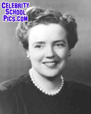 Frances Bavier (Aunt Bee Taylor)   Celebrity School Pic