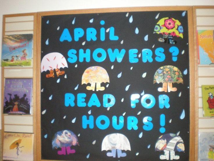 Image result for april library bulletin board