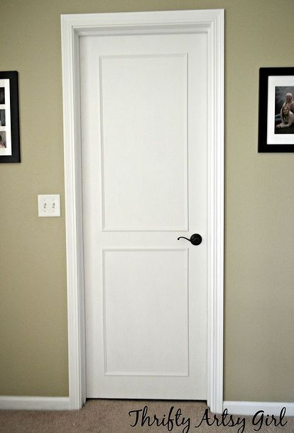 beautiful updated door diy slab door makeover doors how to painting. Black Bedroom Furniture Sets. Home Design Ideas
