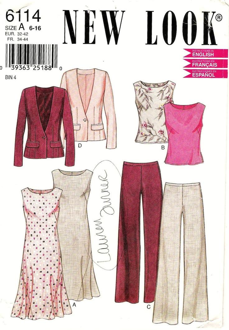 Sleeveless Dress with Blazer Pattern New Look 6114 (Womens sizes 6-8-10-12-14-16). $7.00, via Etsy.