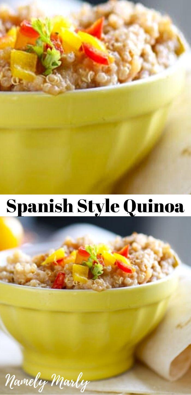 Easy Healthy Spanish Quinoa Recipe In 2020 Quinoa Recipes Spanish Quinoa Recipe Vegan Recipes