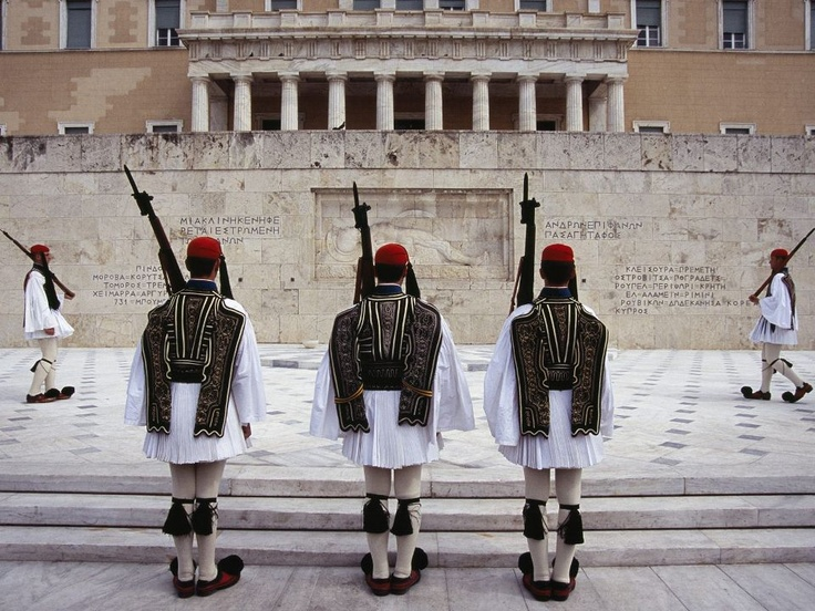 Tomb of the Unknown Soldiers, Athens, Greece.