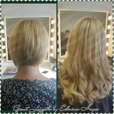 30cm Great Lengths transformation from short bob, blonde hair extensions kilkenny ireland