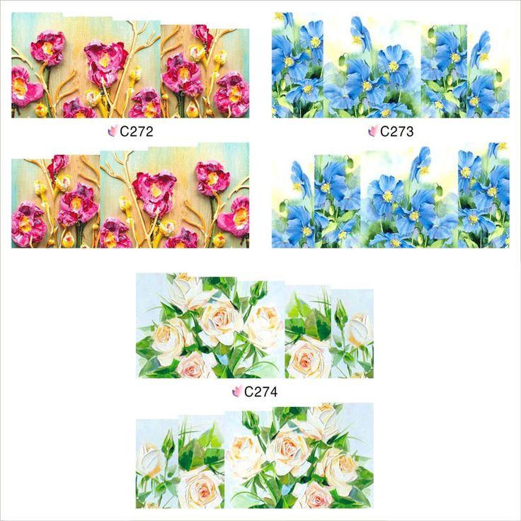 1 Blatt Nagel Kunst Nageltattoo Sticker Aufkleber DIY Blumen Muster C272-27 | eBay