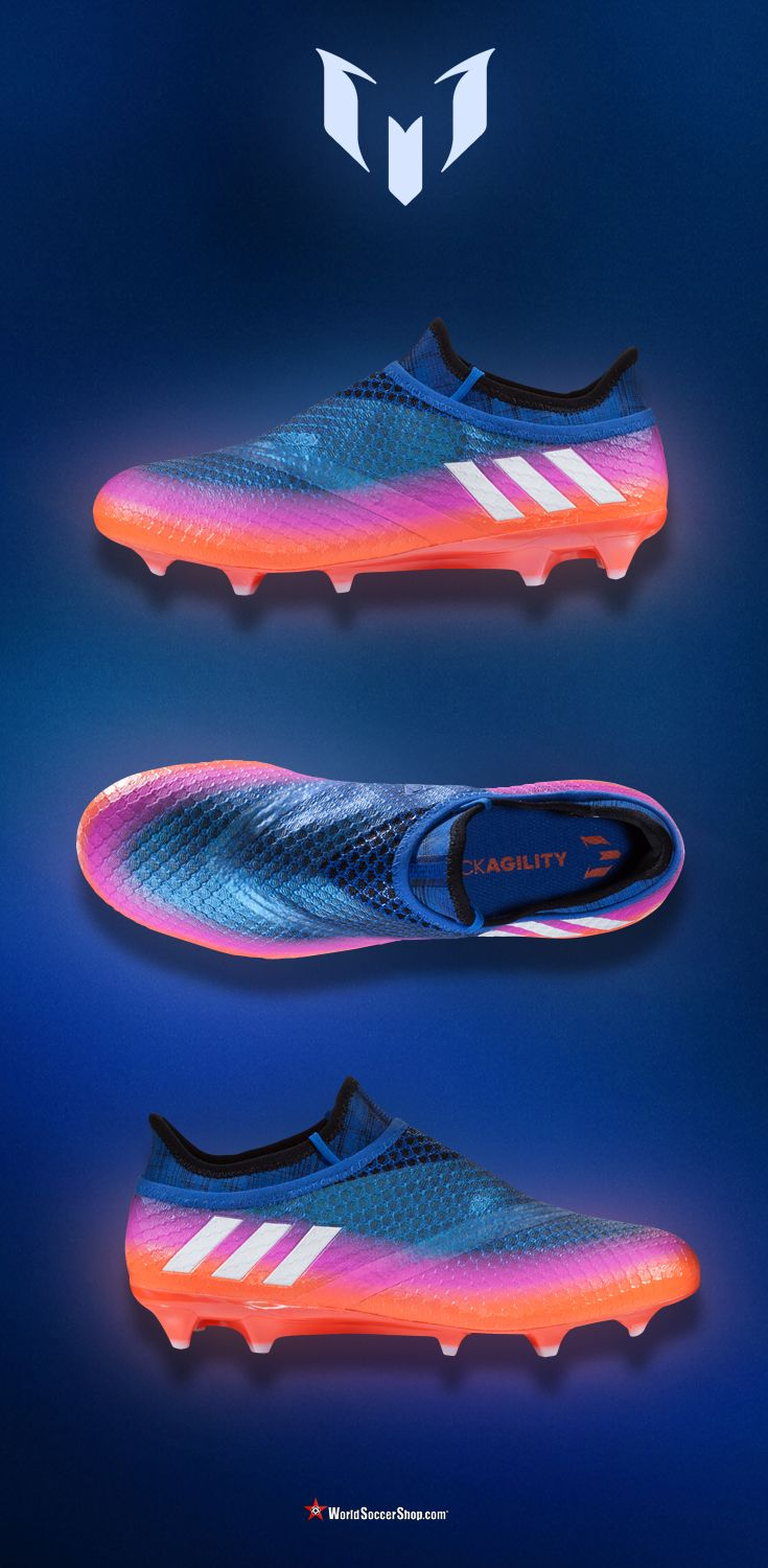 ⚡️ NEW! ⚡️  adidas MESSI 16+ PUREAGILITY FG  - Made for the players who are can't be stopped, the players who can take on the next defender with ease, and who can slot the ball past the keeper, making it look simple. The MESSI 16+ PUREAGILITY is the perfect cleat for the best player in the world, Leo Messi. Available now at WorldSoccerShop.com #Messi #Soccer #Cleats