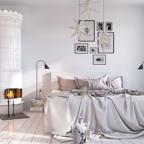 Love this beautiful cosy bedroom with Christmas decor - Is To Me