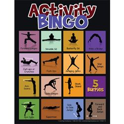 Physical Activity Bingo. Use this to get your kids moving! #beactive #activeliving http://www.activatebuffalocounty.com