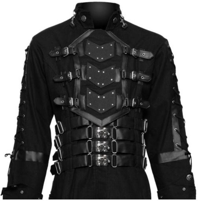 Rebelsmarket hellraiser dark goth coat gothic steampunk jacket men costume coat coats 5