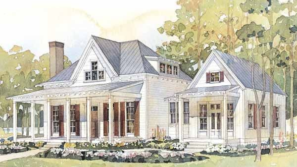 Southern living house plans plan sl 593 dream house for Southern cottage style