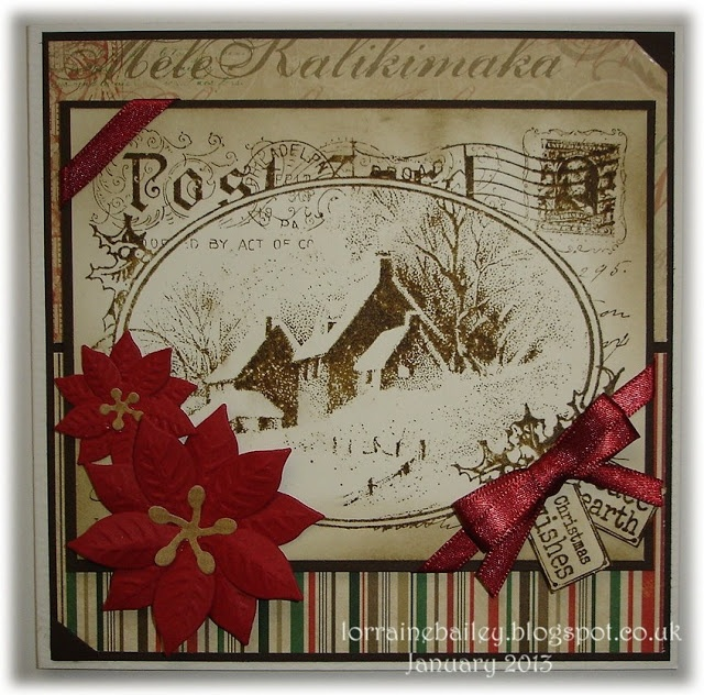 Mrs B's Blog: Stampendous CRR143 Snowy Postcard