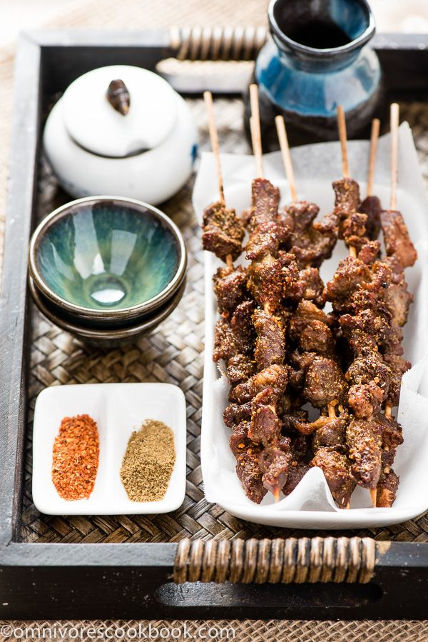 SUPER YUMMY Cumin and chili pepper seasoned Uyghur-Style Lamb Skewer with tips on how to create moist and flavorful kebab with tough cut of lamb  | omnivorescookbook.com