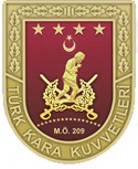 The Turkish army . Military service is mandatory for all men over the age of 20.  There is no right to be a conscientious objector . For those without a university degree, service lasts 15 months  Those with a university degree are either reserve officers for 12 months, or privates for six months  pic.Kkbrove yeni.png
