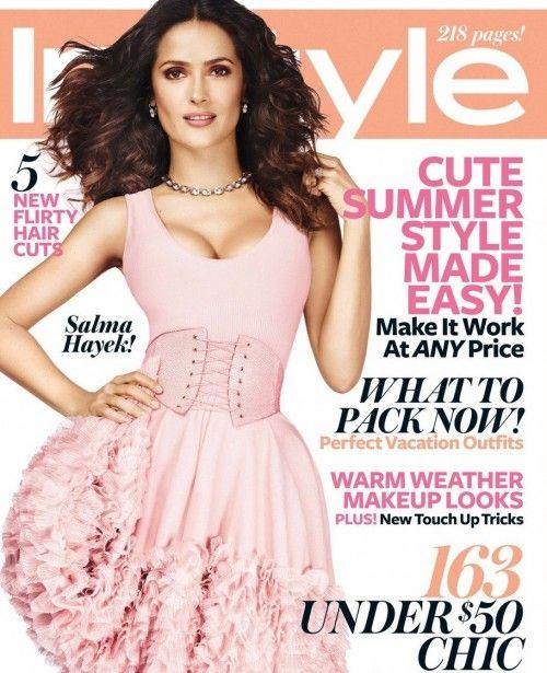 Salma Hayek Covers InStyle Magazine July 2012