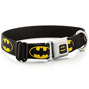 ThinkGeek :: Superhero Seatbelt Buckle Dog Collar // my future dogs will need this! - pixypi