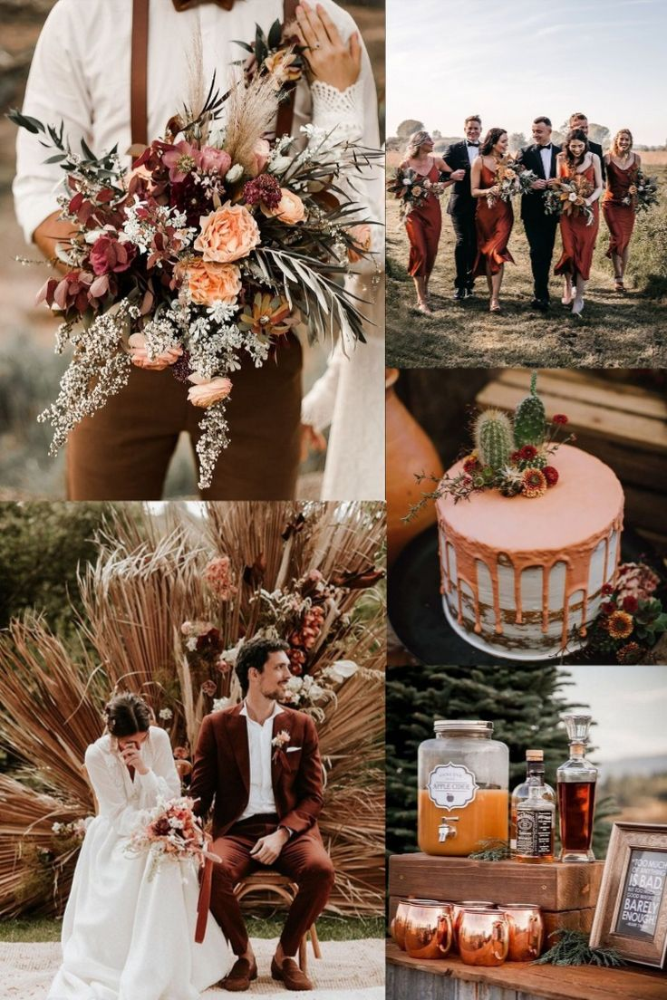 20 Rustic Bohemian Rust Wedding Color Ideas for 2020