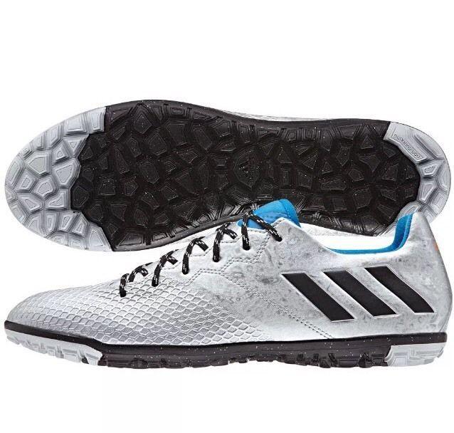adidas 16.3 TF Messi 2016 Turf Soccer Shoes Silver  Blue  Black New! Sz 11