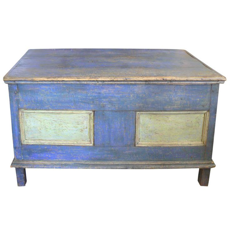 Pine Painted Blanket Chest