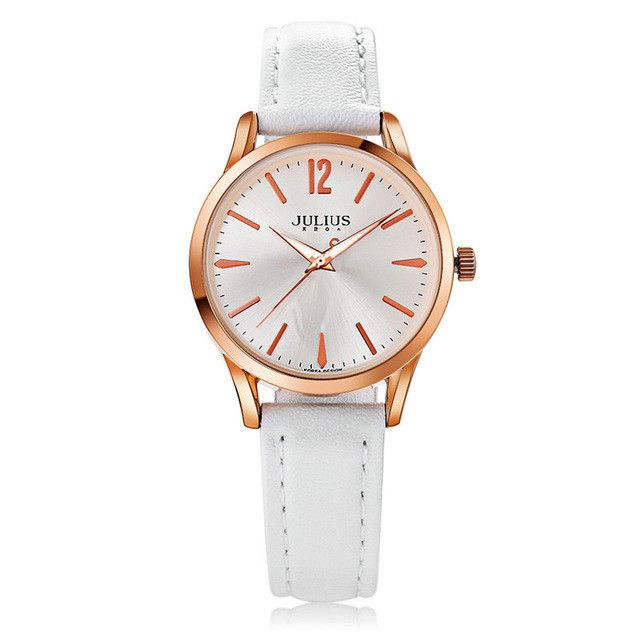 2017 New Luxury Julius Women Watch Fashion Simple Sport Ladies Bracelet Watches Waterproof Genunie Leather Relogio Feminino