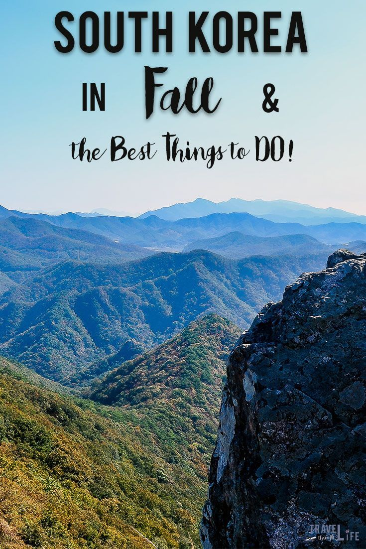 Visit South Korea in Fall and check out these awesome things to do!