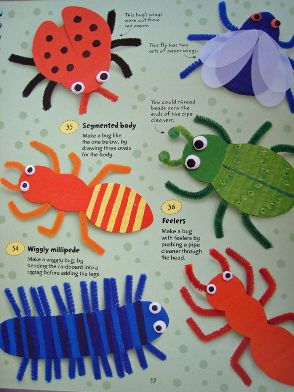 Crafts from Inside 365 Things to Make and Do. Step by step instructions with pictures showing how it is supposed to look each step of the way. Win win when they can do it. Great for eye hand co-ordination and following instructions. Develop their creative side. www.Suesbooks.us