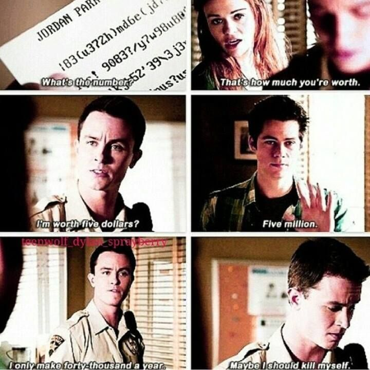 Teen Wolf - Lydia, Parrish, and Stiles... I would have said the exact same thing Parrish...
