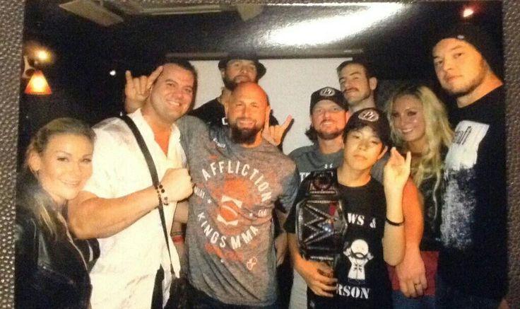 Natalya, Davey Boy Smith, The Club, AJ Styles, Aiden English, Charlotte, Baron Corbin